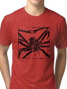 Giant Spider Crab - Museum Linocut Collection Tri-blend T-Shirt