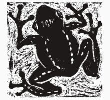 Tree Frog - Museum Linocut Collection One Piece - Short Sleeve