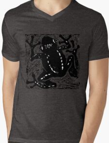 Tree Frog - Museum Linocut Collection Mens V-Neck T-Shirt