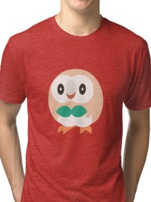 Rowlet Vector (Pokemon) Tri-blend T-Shirt