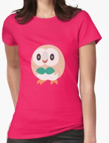 Rowlet Vector (Pokemon) Womens Fitted T-Shirt