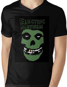 Electric Mayhem Parody Logo Mens V-Neck T-Shirt