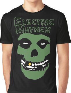 Electric Mayhem Parody Logo Graphic T-Shirt
