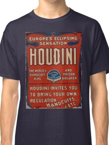 Vintage Poster Harry Houdini Classic T-Shirt