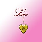 Golden Rose Locket With Love by Chere Lei