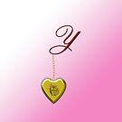 Y Golden Heart Locket by Chere Lei