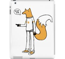 Choosy fox iPad Case/Skin