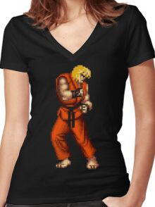 Ken Women's Fitted V-Neck T-Shirt