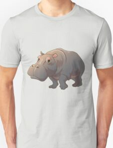 Cute cartoon hippo Unisex T-Shirt