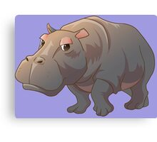 Cute cartoon hippo Canvas Print