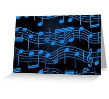 SHEET MUSIC-BLUE Greeting Card