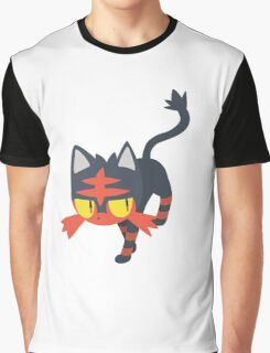 Litten Vector (Pokemon) Graphic T-Shirt