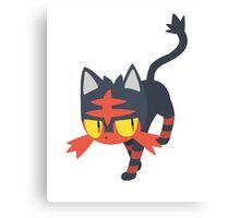 Litten Vector (Pokemon) Canvas Print