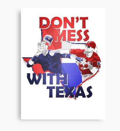 Texas Rangers Punch Canvas Print