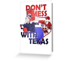 Texas Rangers Punch Greeting Card