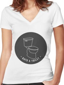 DATS A TOILET Women's Fitted V-Neck T-Shirt