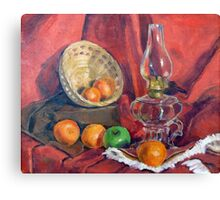 Still Life With Oil Lamp Canvas Print
