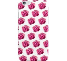 pink roses on white background iPhone Case/Skin