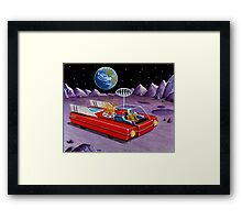 MOON ROVER Framed Print