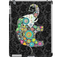 Colorful Retro Floral Elephant Design iPad Case/Skin