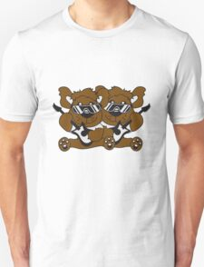 team crew buddies duo electric guitar electro guitar rocker heavy metal hard rock bass band music party concert Teddy Bear Unisex T-Shirt