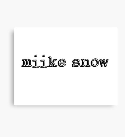 Miike Snow Canvas Print