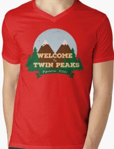 Welcome to Twin Peaks Mens V-Neck T-Shirt