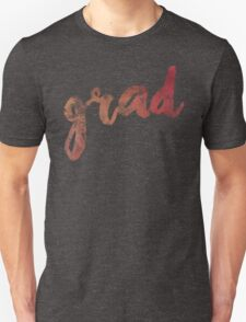 Grad | red and gold brush lettering T-Shirt