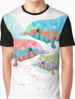 Camouflage Dolphins Graphic T-Shirt