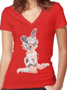 Al Women's Fitted V-Neck T-Shirt