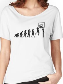 Funny Women's Basketball Evolution Women's Relaxed Fit T-Shirt