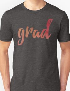 Grad | red and gold brush type T-Shirt