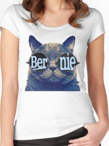 Bernie more purr Women's Fitted Scoop T-Shirt