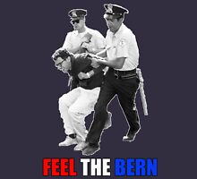 Feel the BERN Bernie Sanders Arrested Womens Fitted T-Shirt