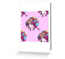 floral afro Greeting Card