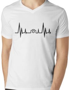 Photography Heartbeat Mens V-Neck T-Shirt