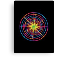 Psychedelic Pinwheel  Canvas Print