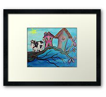 Cow In A Tree Framed Print