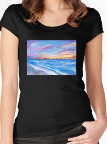 Flagler Beach Sunrise 2 Women's Fitted Scoop T-Shirt