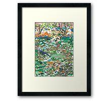 Fishpond Framed Print