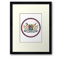 Allied Nations Small Framed Print