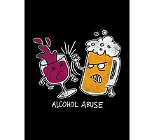 Alcohol Abuse Photographic Print
