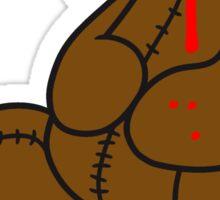 dripping splatter blood disgusting head torn beheaded dead murder headless teddy bear sitting horror halloween evil Sticker