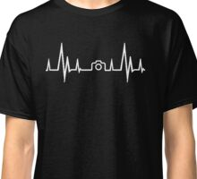 Photography Heartbeat (Alternate White Version) Classic T-Shirt