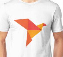 Bird origami red Unisex T-Shirt