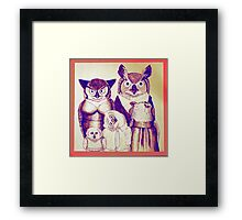 The Owls Together Framed Print