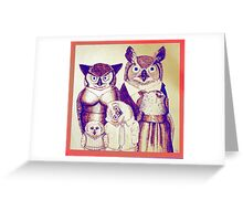 The Owls Together Greeting Card