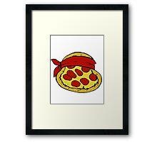 TMNT Pizza - Raphael Framed Print