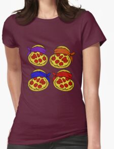 TMNT Pizza  Womens Fitted T-Shirt