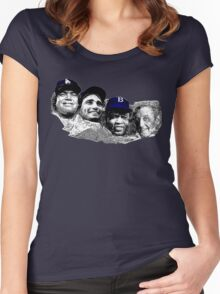 Dodgers Mt. Rushmore Women's Fitted Scoop T-Shirt